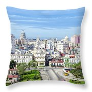 View Of Old Town Havana Throw Pillow