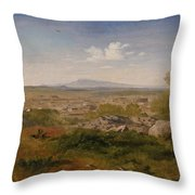 View Of Orange With Mont Ventoux Throw Pillow