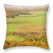 View Of Ottawa Valley In Autumn 13 Throw Pillow