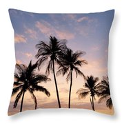 View Of Palms Throw Pillow