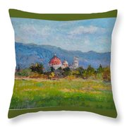 View Of Pisa From Countryside Throw Pillow