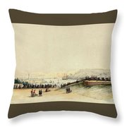View Of Plymouth Hoe Throw Pillow