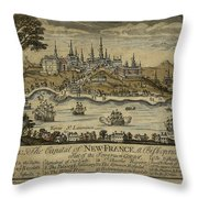 View Of Quebec City 1759 Throw Pillow