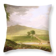 View Of Rutland - Vermont Throw Pillow