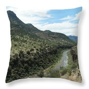 View Of Salt River Canyon Throw Pillow