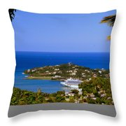 View Of St. Lucia Throw Pillow
