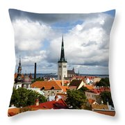 View Of St Olav's Church Throw Pillow by Fabrizio Troiani