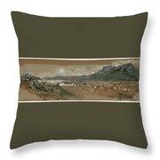 View Of Tetouan Throw Pillow