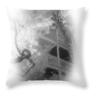View Of The Balcony  Throw Pillow
