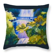 View Of The Bridge Throw Pillow
