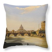 View Of The Castel Sant'angelo Throw Pillow