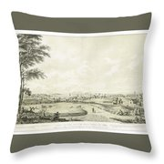 View Of The City Of New York Throw Pillow