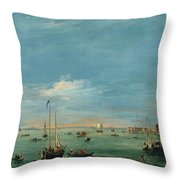 View Of The Giudecca Canal And The Zatter Throw Pillow