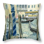 View Of The Grand Canal In Venice Throw Pillow