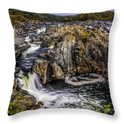 View Of The Great Falls Throw Pillow