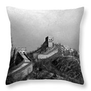 View Of The Great Wall I Throw Pillow