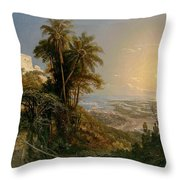 View Of The Harbor Of Puerto Cabello, Study Throw Pillow