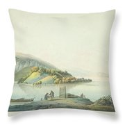 View Of The Island Throw Pillow