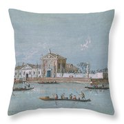 View Of The Island Of B.v. Del Rosario Throw Pillow