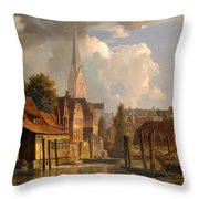 View Of The Little Alster Throw Pillow