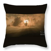 View Of The Maleny Mountains Hinterlands. Throw Pillow