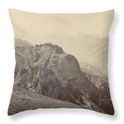 View Of The Mountains Of The Himalayas, Samuel Bourne, 1866 Throw Pillow