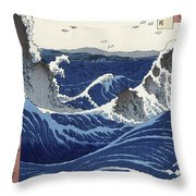 View Of The Naruto Whirlpools At Awa Throw Pillow