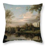 View Of The Pavlovsk Palace Throw Pillow by Carl Ferdinand von Kugelgen