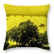 View Of The Potomac Throw Pillow