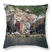 View Of The Riomaggiore, La Spezia Throw Pillow