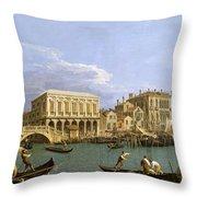 View Of The Riva Degli Schiavoni. Venice Throw Pillow
