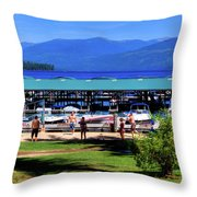 View Of The Selkirk Mountains Throw Pillow