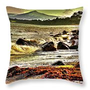 View Of The Sugarloaf Mountain From Killiney, 1b Throw Pillow
