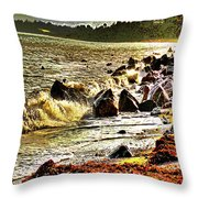 View Of The Sugarloaf Mountain From Killiney Throw Pillow