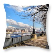 View Of The Thames Throw Pillow