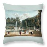 View Of The Tuileries Garden Throw Pillow