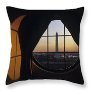 View Of The Washington Monument Throw Pillow