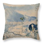 View Of Trent Throw Pillow