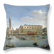 View Of Venice From The Island Of San Giorgio Throw Pillow