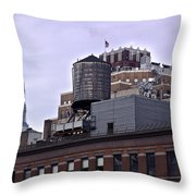 View Of Water Tank From High Line Park Throw Pillow