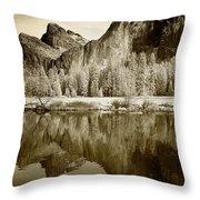 View Of Yosemite Throw Pillow