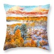 View Of Yosemite National Park Throw Pillow