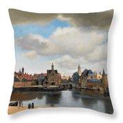 View On Delft Throw Pillow