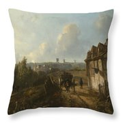 View On Montmartre Throw Pillow