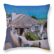 View On Obidos Throw Pillow