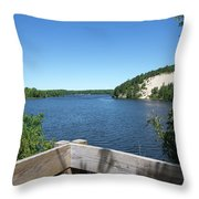 View On The Au Sable Throw Pillow