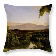 View On The Catskill Throw Pillow