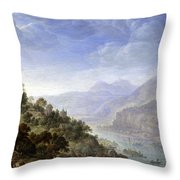 View On The Rhine Throw Pillow