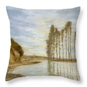 View On The Seine,  Harp Of The Winds , Homer Dodge Martin Throw Pillow