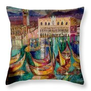View On Venice Throw Pillow
